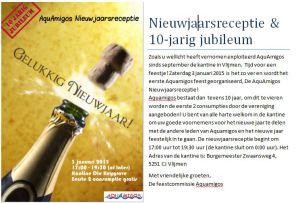 Nieuwjaarsreceptie + Jubileum